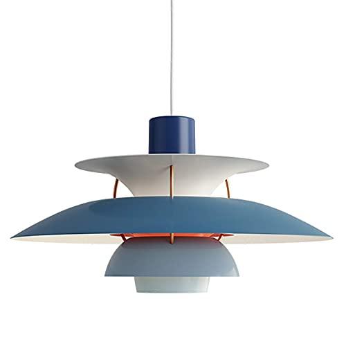 LLLKKK Nordic Creativity - Lámpara de techo moderna de aluminio PH5 para cocina, salón, comedor, sin bombilla, color azul, 30 cm