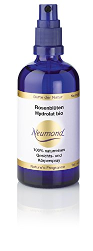 Neumond ätherisches Öl, Rosenblüten Hydrolat bio Gesichts- und Körperspray, 100 ml, 1er Pack (1 x 100 ml)