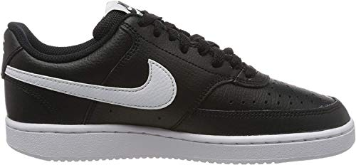 Nike Damen Court Vision Low Sneaker, Schwarz (Black/White 100), 41 EU