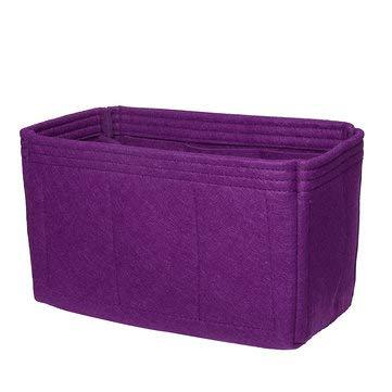ExcLent 26X15X14Cm Filzeinsatz Handtasche Organizer Travel Purse Bag Organizer Lagerung - Lila