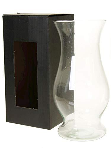 INNA-Glas Jarrón Alto de Cristal THALEA, Vidrio ecológico, Transparente, 40cm, Ø18cm/Ø20,7cm -...