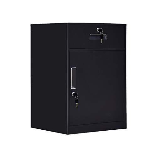 Dossierkast onderkast metalen kast data-opslag kast archiefkast ladekast met slot kleine kast Lostgaming 1mm zwart