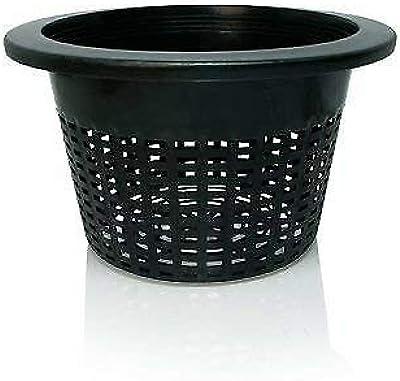 "Hydrofarm HG10MESHPOT Wide Lip, 10"", Bag of 50 Bucket Basket Lid, Black"