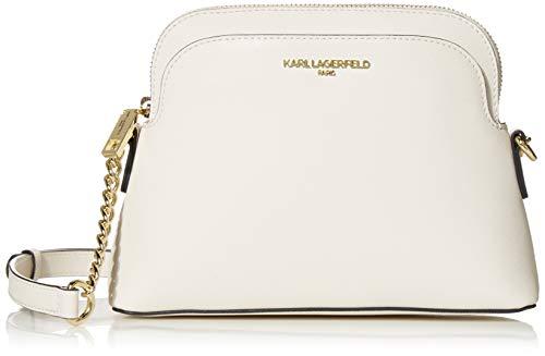 Karl Lagerfeld Paris Damen PENELOPE DOME CROSSBODY Umhängetasche, Winter-Weiß, Einheitsgröße