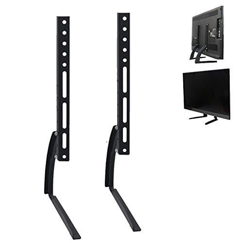 YMS Estable Ajustable Durable Monte Multi Agujero de Mesa Acero Negro de instalación Sencilla Inicio Triángulo Universal con Tornillos de la Base del Soporte de TV Soporte de TV (Size : 24-32')