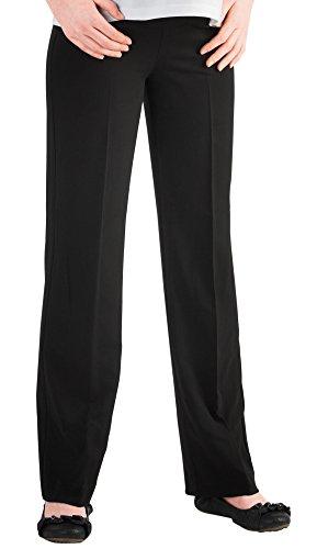Christoff Damen Stretchhose Umstandshose Hose Umstandsmode 557/33 (42 (Herstellergröße: 42/34L), schwarz (Black))