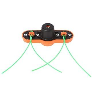 Manyo – Cabezal desbrozadora, cabeza cortabordes de ABS para moisonnea/cortacésped, cabeza de hierba de cadena + 2 hilos – M10 x 1,25