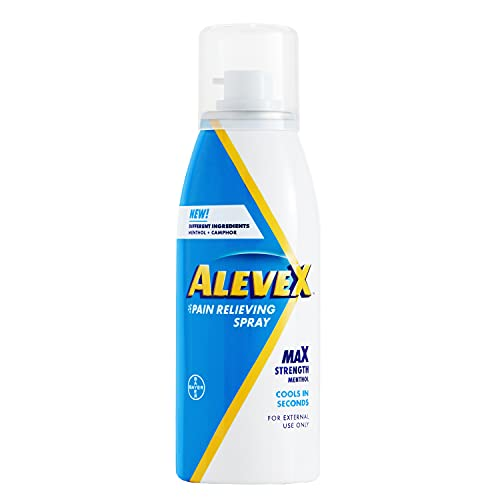 AleveX Fast Acting & Drying Spray for Targeted Pain Relief, 3.2 Oz Aleve X