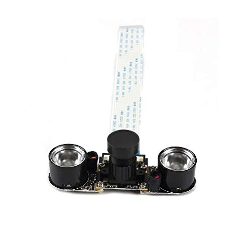 for Raspberry Pi 3 Camera Module Night Vision Camera with 3.6mm Adjustable Focal Length 2pcs IR Sensor LED Light 1080P for RPI 2 3D Printing Accessories