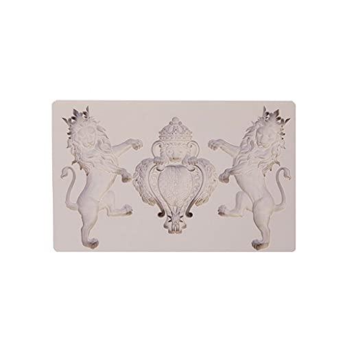 RG-FA 3D creativo león en forma de vela de jabón molde de silicona DIY Topper Decoración antiadherente Pice Cream molde para fondants caseros