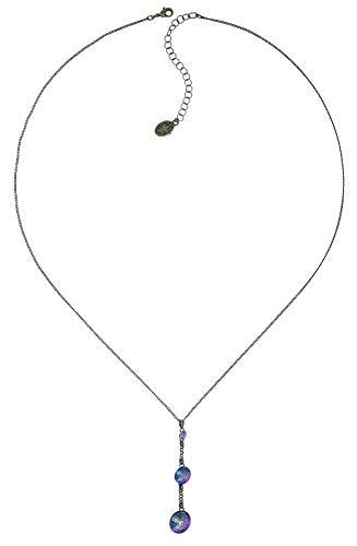 Konplott Y-Halskette Rivoli lang brass lila crystal paradise shine