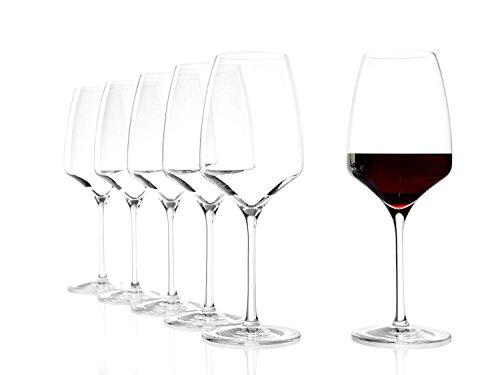 Stölzle Lausitz Verre à vin rouge de 450 ml idéal en toutes occasions (Lot de 6)