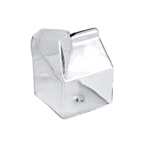 Salsera Copa de leche cuadrada creativa para niños Cartón de leche resistente al calor Cartón de bebidas personalizadas para el hogar Taza de desayuno Sala de estar Escuela 350 ml Platillo