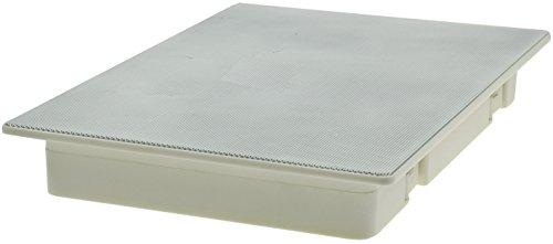 Plafond- en wandinbouwluidspreker CTE-W wit metalen beschermingsrooster beugels 8 Ohm eenvoudige montage (287x197mm, 120 Watt, 2-wegen, wit)