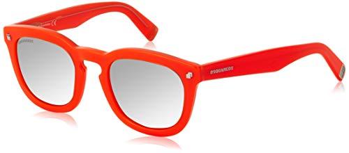 DSQUARED2 Sunglasses Dq0198 44L 49 Occhiali da sole, Rosso (Rot), Unisex-Adulto