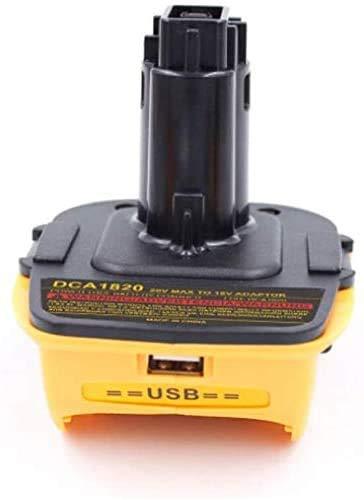 USB Converter for DeWalt 18V to 20V DCA1820 DCB090 Slide Battery Adapter LATT LIV
