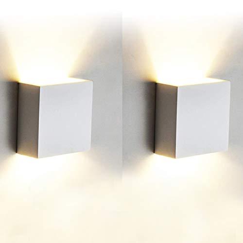 2 Pcs Aplique Pared Interior LED 7W Lámpara de pared Moderna 3000K Blanco Cálido Perfecto para Salon Dormitorio Sala Pasillo Escalera ✅