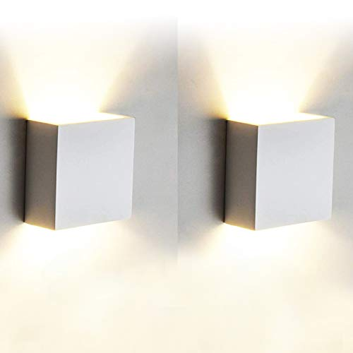 2 Pcs Aplique Pared Interior LED 7W Lámpara de pared Moderna 3000K Blanco Cálido Perfecto para Salon Dormitorio Sala Pasillo Escalera 🔥