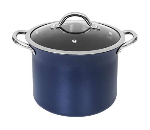Miuphro Concord Sapphire Nonstick 7 Quart Stock Pot Cookware Set (Induction Compatible) (Stock Pot)