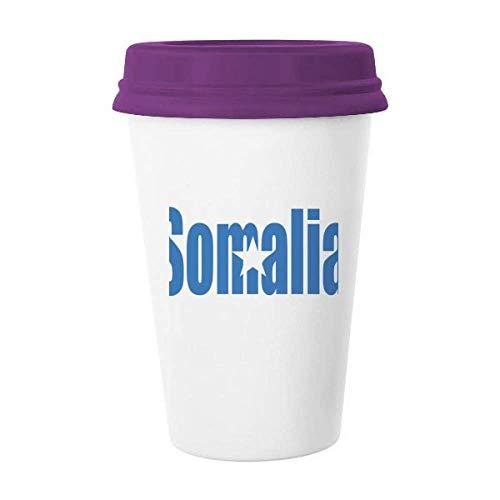 Kaffeetasse mit Somalia-Flagge, Name, Glas, Keramik, Tasse mit Deckel, Geschenk