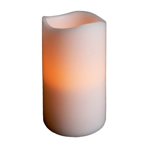 Fortune Products CL-435-WPRC Remote-Controlled Real Wax Pillar Candle, 2-3/4