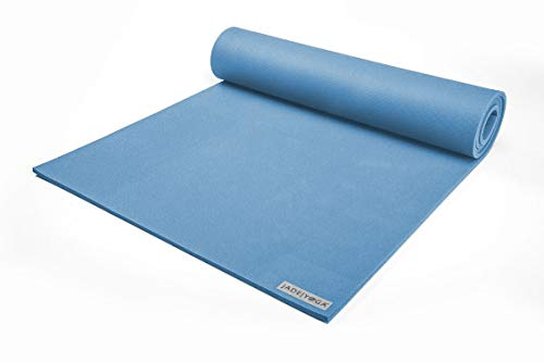 Jade Yoga - Fusion Yoga Mat - Extra Thick for Extra Comfort (68-inch, Slate Blue)
