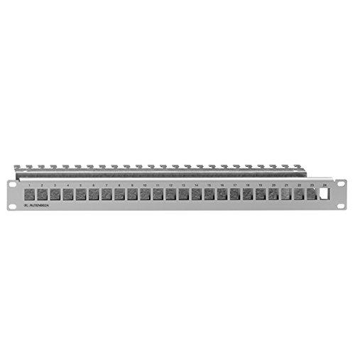 """Rutenbeck 23900000 Patchpanel leer 19"""" zur Aufnahme von max. 24 Universalmodulen, PP-UM A-24/1 Basic, 72 V"""