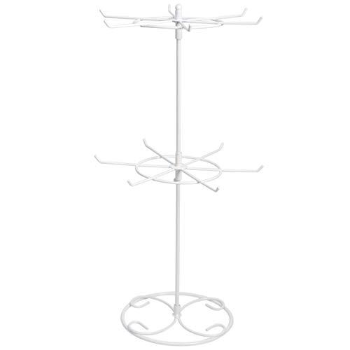 Bestomz - Organizador de joyas para pendientes, cadenas o pulseras (blanco)