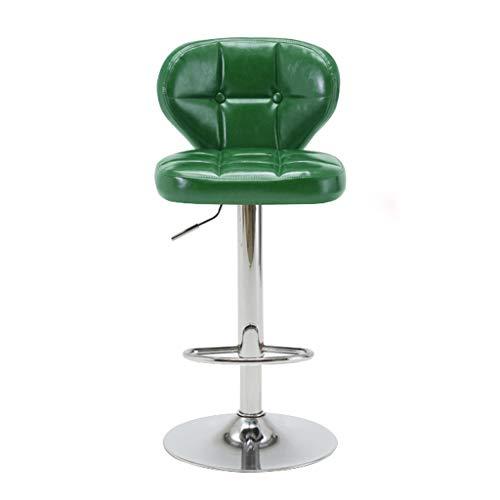 CYLQ barkruk, barstoelen van PU-leer, in hoogte verstelbaar, voetensteun voor de voetensteun in de keuken, 360 ° draaibaar, kruk draaibaar, 4 kleuren, 63-83 cm