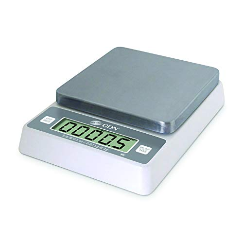 """CDN SD0502 Pro Accurate Digital Portion Control Scale - 5 lb, 1.75"""" Height, 7.9"""" Width, 5.9"""" Length"""