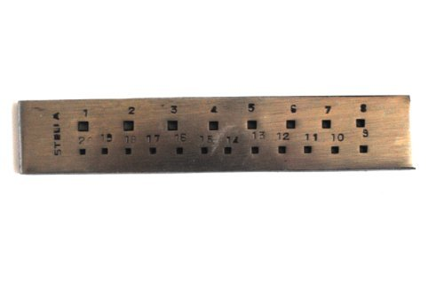 """Jewelers 6"""" Square Draw plate 20 Holes"""