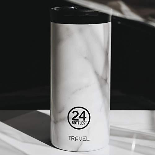 24Bottles - Taza térmica de viaje de acero inoxidable sin BPA | 12 horas frío 6 horas caliente | Travel Tumbler | Diseño original italiano – Carrara 600 ml