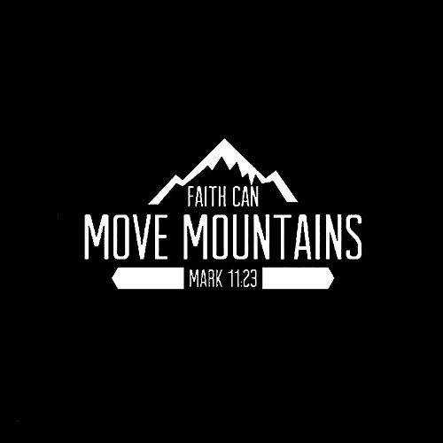 2 Pcs,Car/Truck Sticker Vinyl,Car Vinyl Decal Sticker, Faith Can Move Mountains Mark Christian for Trucks, Windows, Walls, Laptops, and Other Stuff, for Cars, Motorbikes, Windows,
