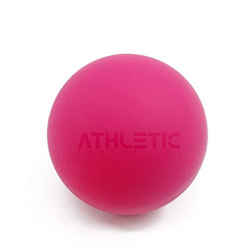 ATHLETIC AESTHETICS Massage-Ball [6cm Durchmesser] - Als Lacrosse-Ball und Faszien-Ball zur Selbstmassage und zur Triggerpunkttherapie (genaue Behandlung von Verspannungen) geeignet (Pink)