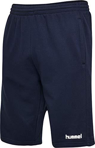 hummel Herren HMLGO Cotton Bermuda Shorts, Marine, XL