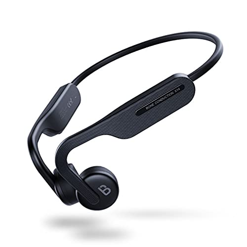 AQUYY Auriculares Inalámbricos Deportivos Correr, Auricular Bluetooth de Conducción ósea, Cascos IPX6 Impermeable con Reducción de Ruido, Auriculares Estéreo Ligeros a Prueba de Sudor, Negro