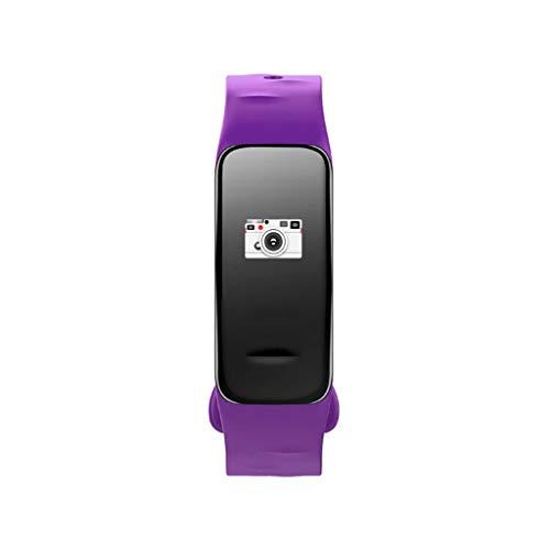 RENJUN Smart-Armband mit Herzfrequenz- und Blutdruckmessgerät-Set, modisch, großer Bildschirm, Sport-Smartwatch mit Bluetooth-Armband (Farbe: Violett)
