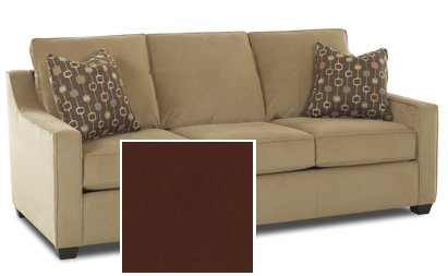 Orlando Queen Sleeper Sofa in Microsuede Sienna