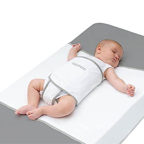 Baby Brezza Safe Sleep Swaddle Blanket for Crib Safety for Newborns and Infants – Safe, Anti-Rollover Blanket in White, by Tranquilo Reste
