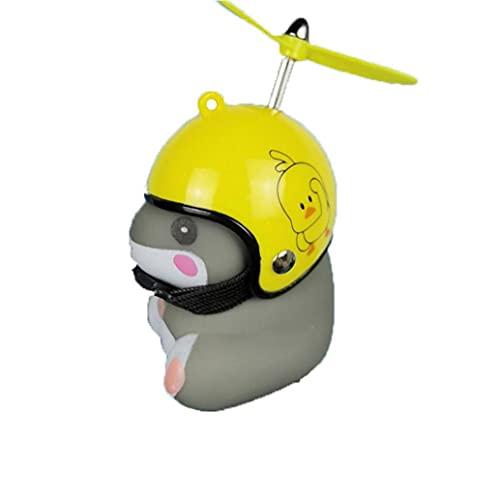 1PC bicicletas Hamste campana de luz de la bici de Bell del cuerno del casco Propulsor de dibujos animados lindo con luz manillar de la motocicleta de la bicicleta accesorios de ciclismo Hobby