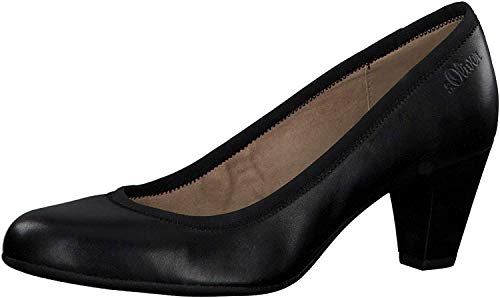 s.Oliver Damen Pumps 22425-24, Frauen Klassische Pumps, stöckelschuhe weibliche Ladies feminin elegant Women's Women Woman,Black,40 EU / 6.5 UK