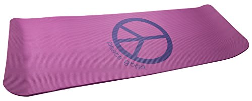 Mens n Womens Thick 1/2' Yoga Exercise Mat, Pink