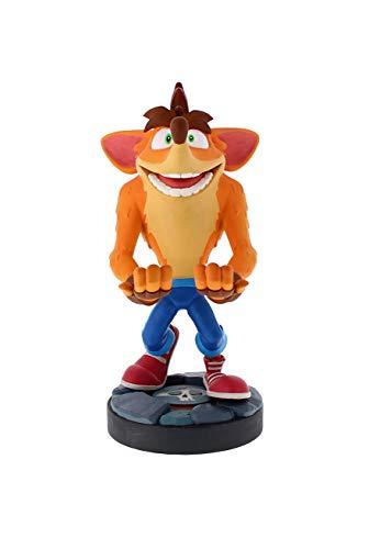 Exquisite Gaming - Exquisite Gaming - Cable guy Crash Bandicoot Quantum, soporte de sujeción y carga para mando de consola y/o smartphone