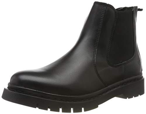 Tamaris Damen 1-1-25938-33 003 Chelsea Boots, Schwarz (Black Leather 003), 38 EU