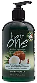 Hair One Coconut Oil Cleansing Conditioner for Dry Hair 12 oz (Pack of 1)
