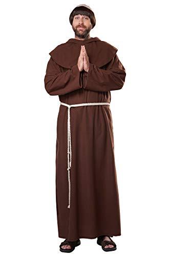 California Costumes Renaissance Friar Adult Costume, Small/Medium Brown