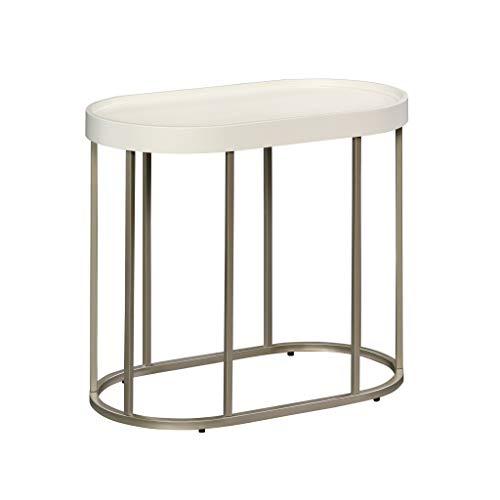 Sauder Manhattan Gate Side Table, L: 25.0' x W: 14.09' x H: 21.14', Ivory