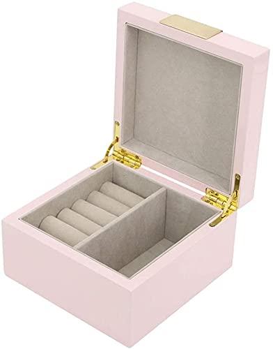 Caja de joyería para mujer, pequeña caja de joyería, caja de joyería de estilo europeo, caja de joyería pequeña y exquisita