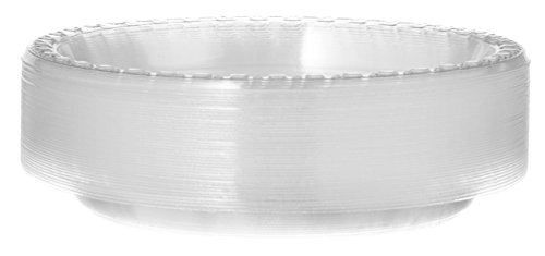 [40 Count] Plastimade 7 Inch Appetizer Plates Clear Disposable Heavy Duty Plastic, Ideal For Wedding, Catering, Parties, Buffets, Events, Or Everyday Use, 1 Pack