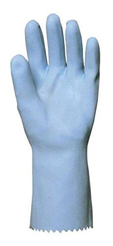 Euro Protection 5208 Paire de Gants Latex sur Jersey T8 Bleu